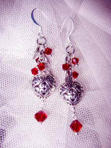 Mated By Moonlight werewolf paranormal romance earrings