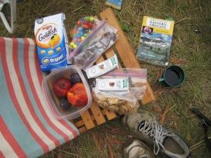 hiking essentials snacks
