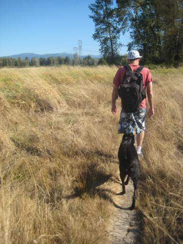 Jessa Slade Sandy River Delta Oregon dog hike